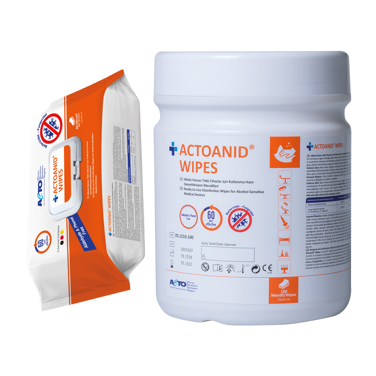 Actoanid Wipes
